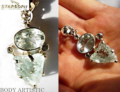 starborncreations aquamarine pendant、スターボーンジュエリーアクアマリンペンダント