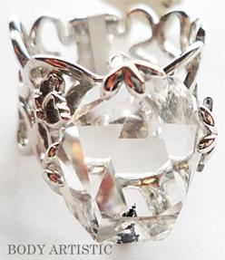 ハーキマーダイアモンドリング