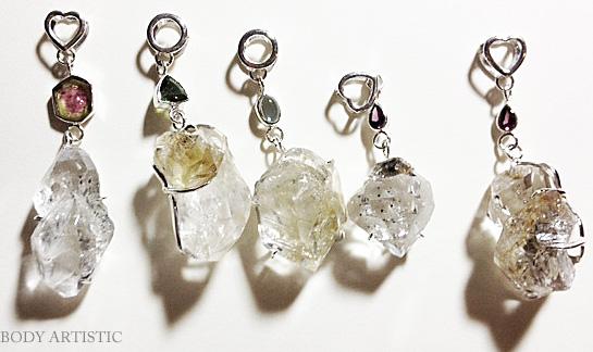 Mitra Bali、ハーキマーダイアモンド、ピンクトルマリンペンダント
