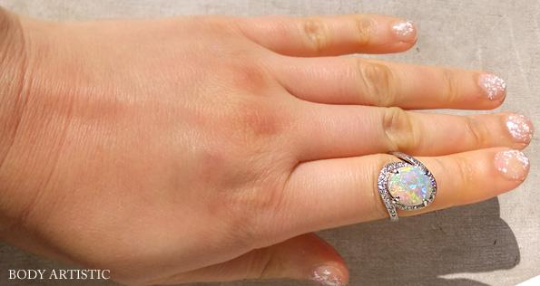 13号・オパール、ダイヤモンドリング