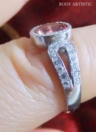 12号・パパラチアサファイヤ×ダイヤモンドリング